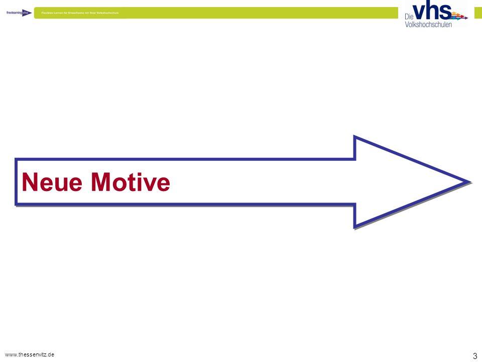 www.thessenvitz.de 34 @ Wertschöpfungskette neu gestalten So wie vor 10 Jahren eine eMail-Adresse exotisch war und heute selbstverständlicher Bestandteil der Arbeitswelt ist wird blended- learning (Lernen mit Präsenz- und Onlinephasen) in spätestens 10 Jahren (eher 3 bis 5) selbstverständlicher Bestandteil der meisten Bildungsprozesse sein.