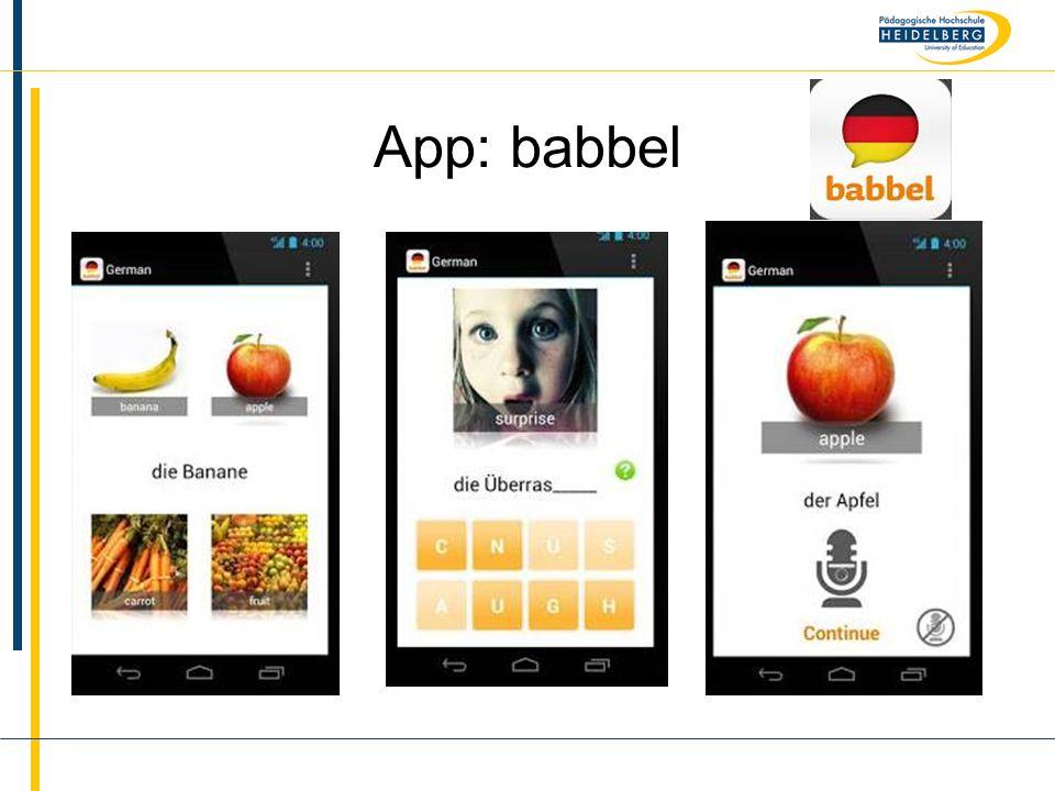 Name App: babbel