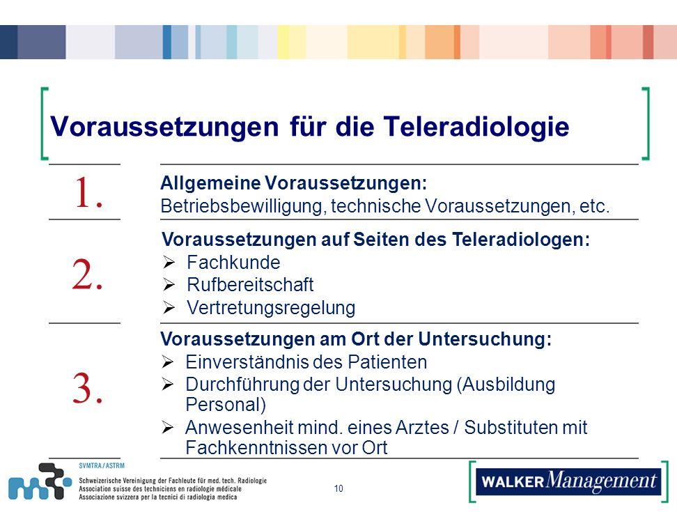 Voraussetzungen für die Teleradiologie 10 1.2. 3.