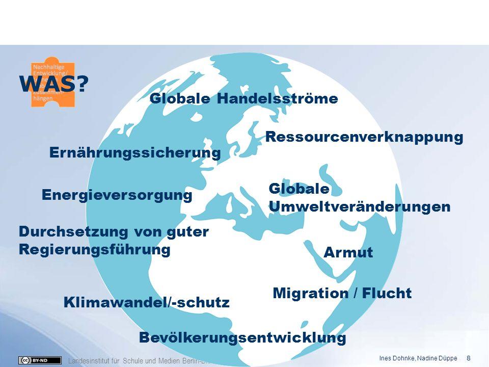 Landesinstitut für Schule und Medien Berlin-Brandenburg (2016) Globale Handelsströme Klimawandel/-schutz Ernährungssicherung Energieversorgung Durchse