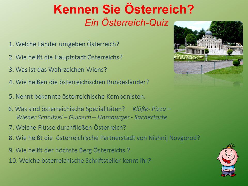 Kennen Sie Österreich. Ein Österreich-Quiz 3. Was ist das Wahrzeichen Wiens.