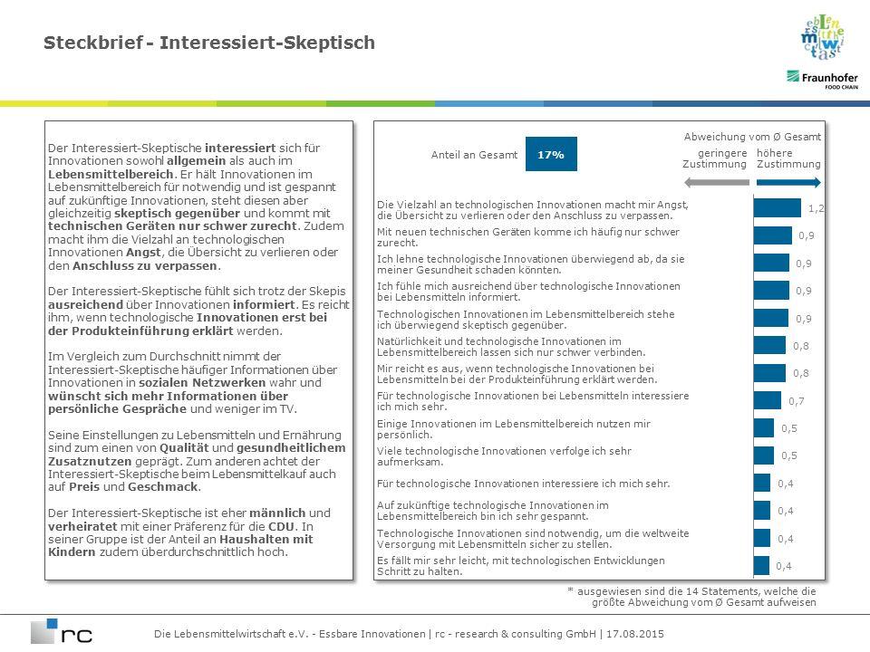 Die Lebensmittelwirtschaft e.V. - Essbare Innovationen | rc - research & consulting GmbH | 17.08.2015 Die Vielzahl an technologischen Innovationen mac