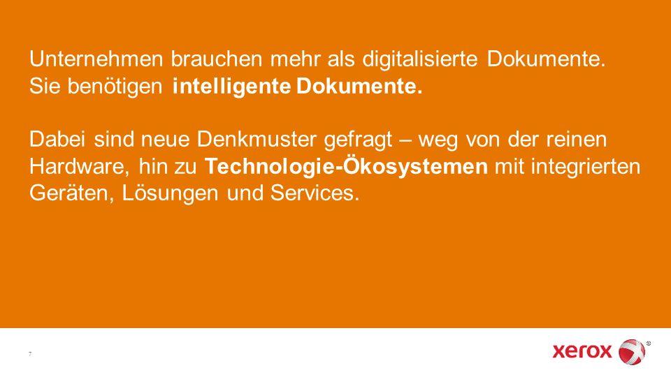 """Zusammenarbeits fördernd Automatische Versionskontrolle Echtzeitfähig Was ist ein """"intelligentes Dokument."""