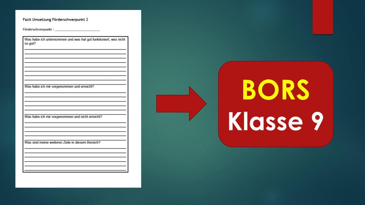 BORS Klasse 9