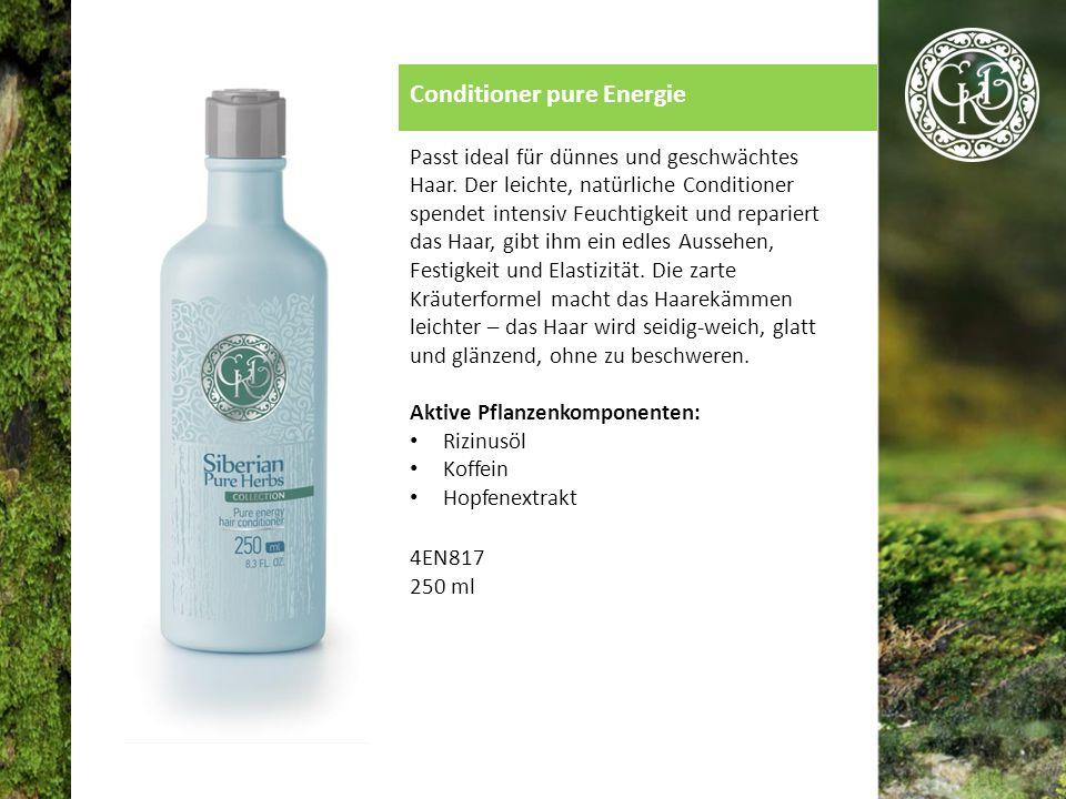Conditioner pure Energie Passt ideal für dünnes und geschwächtes Haar.