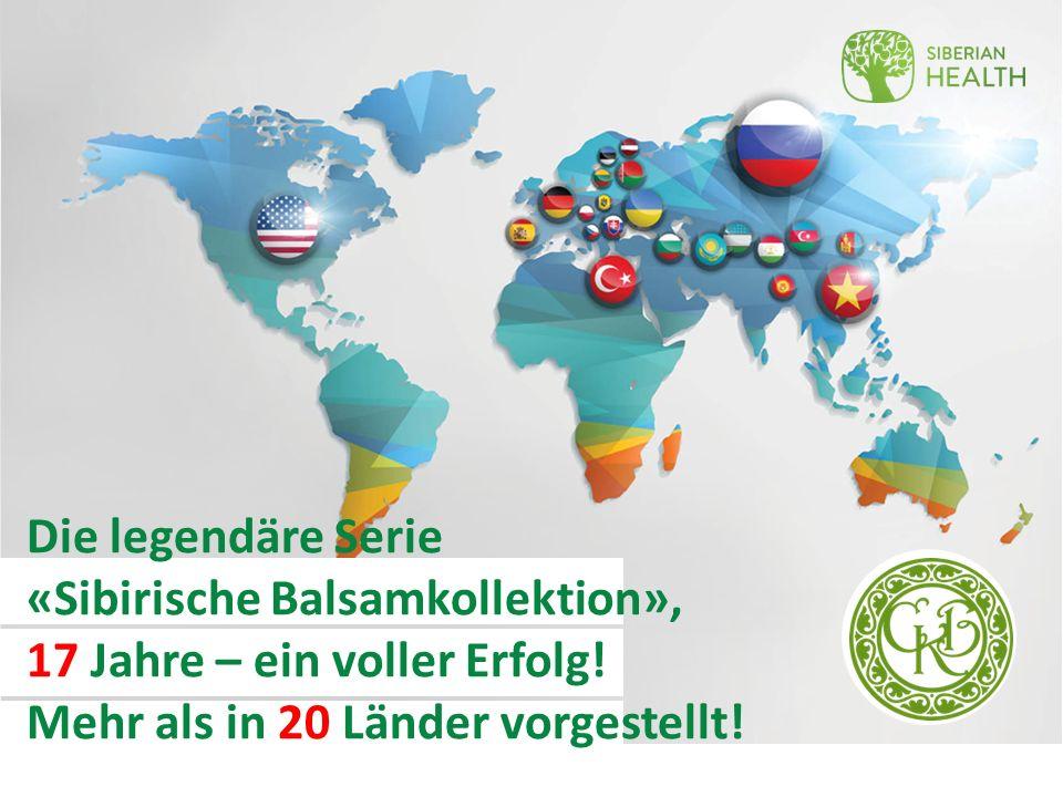 Die legendäre Serie «Sibirische Balsamkollektion», 17 Jahre – ein voller Erfolg.