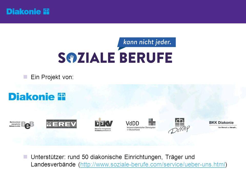 Ein Projekt von: Unterstützer: rund 50 diakonische Einrichtungen, Träger und Landesverbände (http://www.soziale-berufe.com/service/ueber-uns.html)http://www.soziale-berufe.com/service/ueber-uns.html