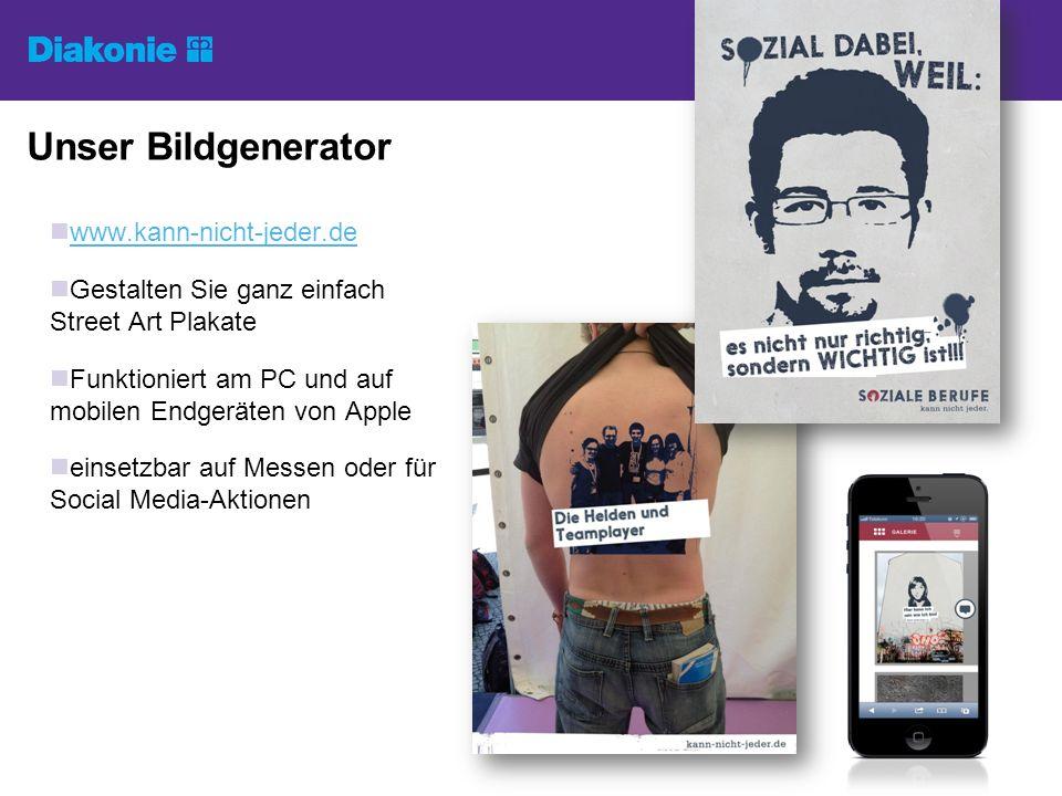 Unser Bildgenerator www.kann-nicht-jeder.de Gestalten Sie ganz einfach Street Art Plakate Funktioniert am PC und auf mobilen Endgeräten von Apple eins
