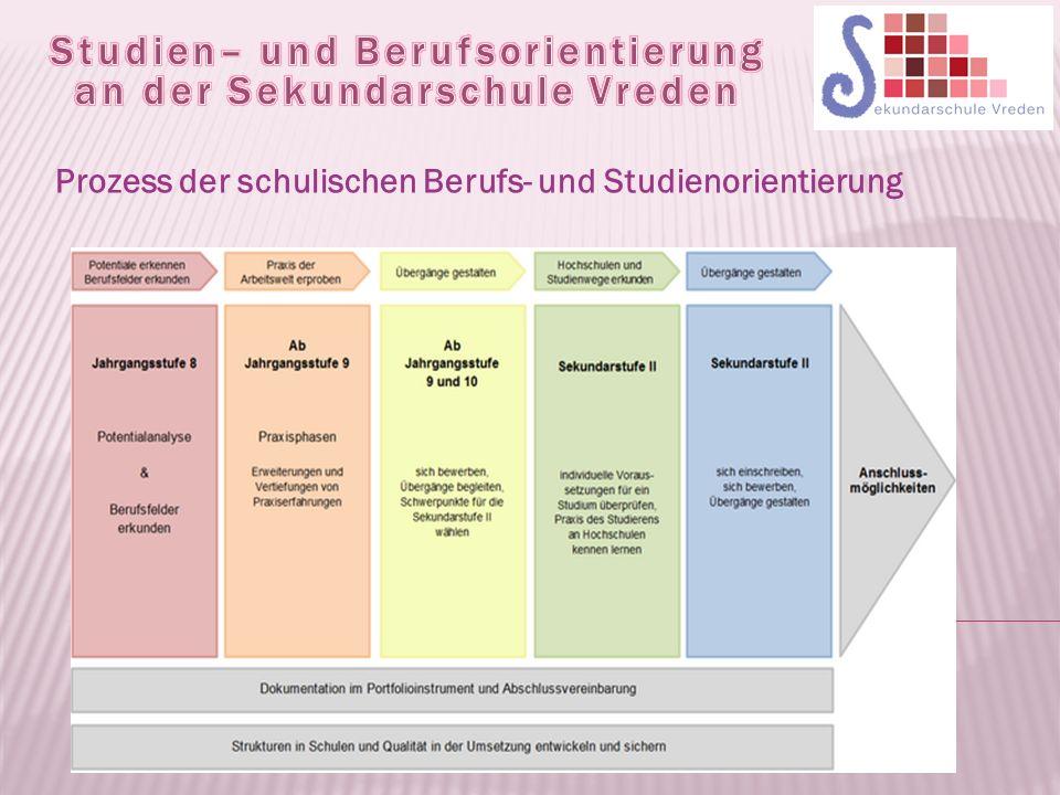 Prozess der schulischen Berufs- und Studienorientierung