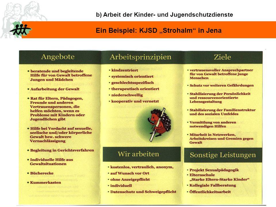 """Ein Beispiel: KJSD """"Strohalm in Jena"""