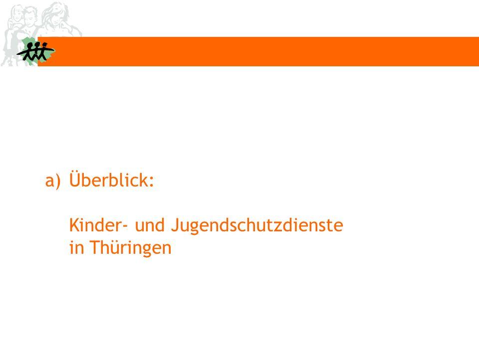 a) a)Überblick: Kinder- und Jugendschutzdienste in Thüringen