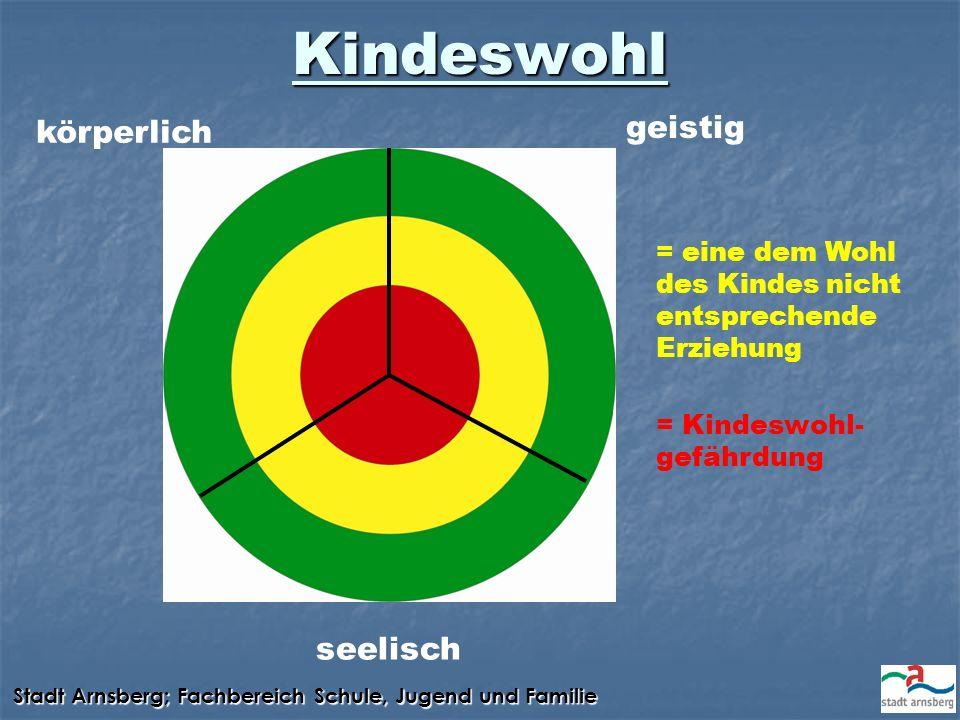 Kindeswohl körperlich geistig seelisch = eine dem Wohl des Kindes nicht entsprechende Erziehung = Kindeswohl- gefährdung
