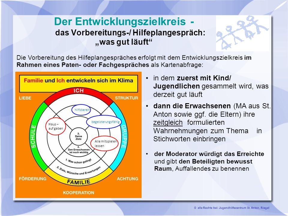 Landkreis Emmendingen Sozialdezernat Klaus entwickelt eigene Ziele Explizit erlebt wurde diese Arbeit sowohl als Mittel der Partizipation und Strukturierung im Hilfeplangespräch darüber hinaus als Begleitung im gesamtes Hilfeprozess.