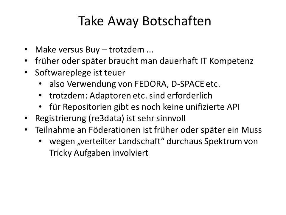 Take Away Botschaften Make versus Buy – trotzdem...