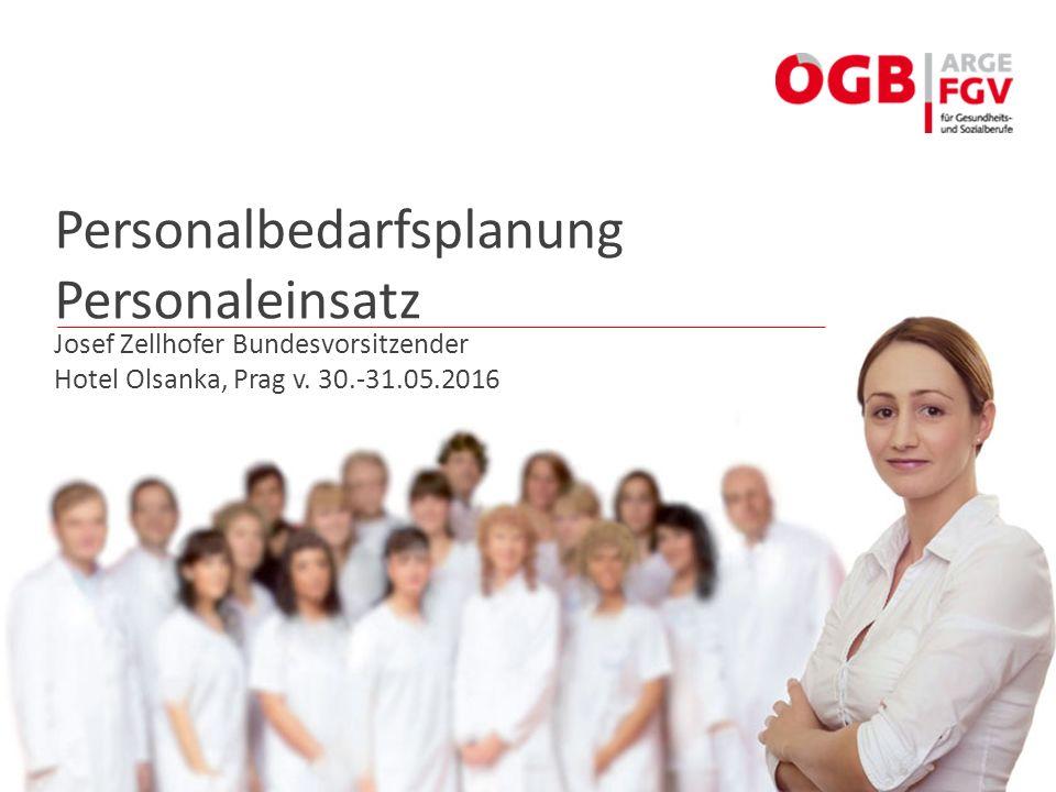 Personalbedarfsplanung Personaleinsatz Josef Zellhofer Bundesvorsitzender Hotel Olsanka, Prag v. 30.-31.05.2016