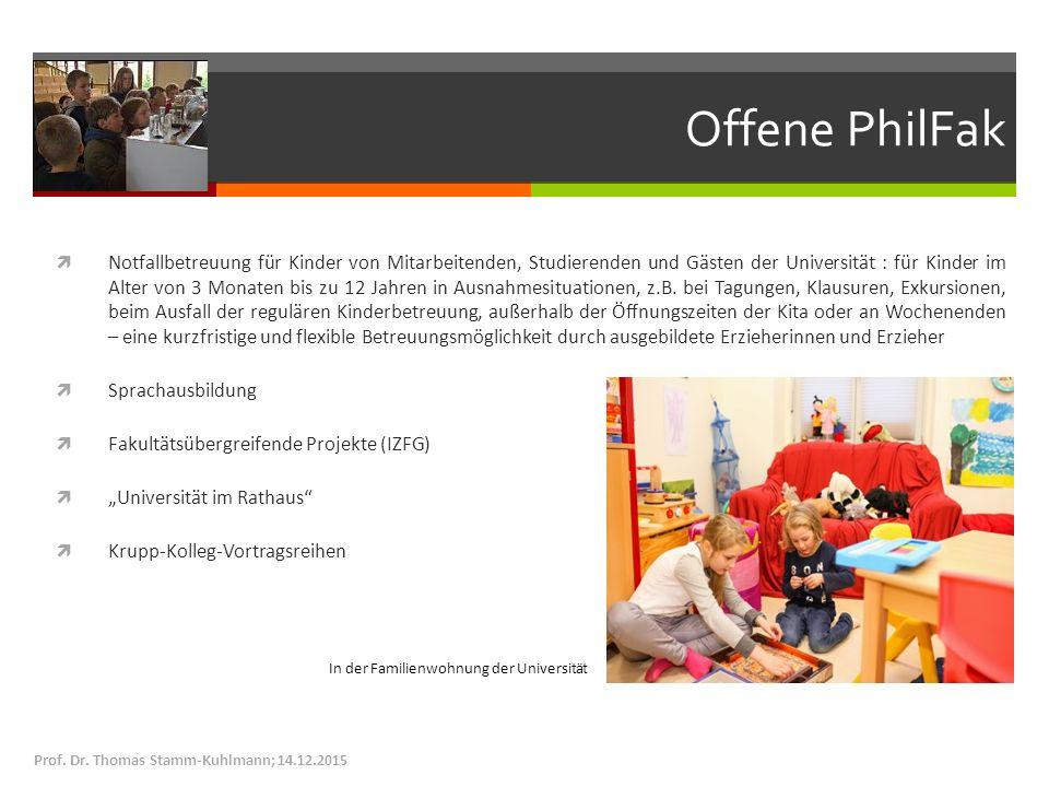 Offene PhilFak  Notfallbetreuung für Kinder von Mitarbeitenden, Studierenden und Gästen der Universität : für Kinder im Alter von 3 Monaten bis zu 12