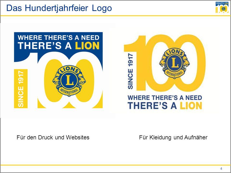 4 Das Hundertjahrfeier Logo Für den Druck und WebsitesFür Kleidung und Aufnäher
