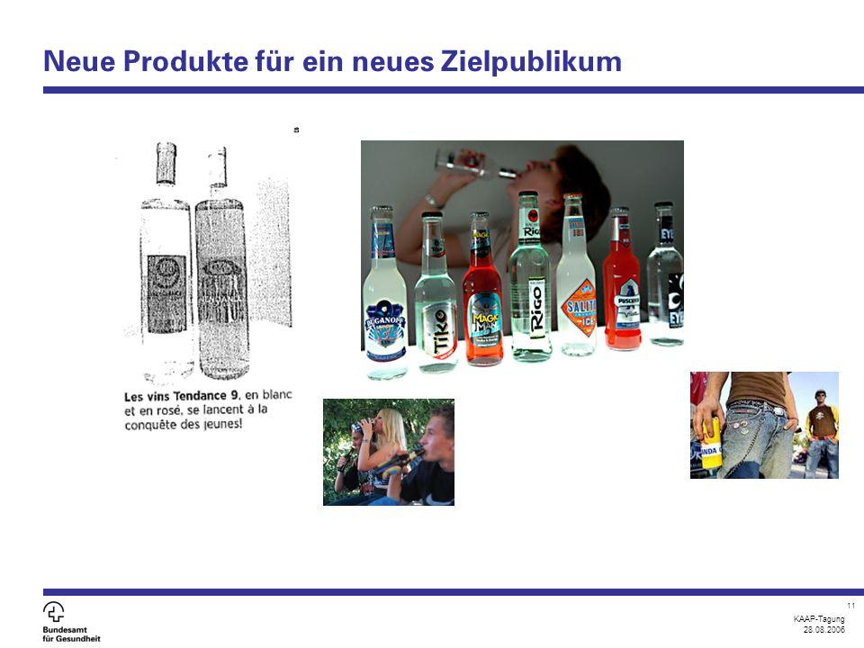 KAAP-Tagung 28.08.2006 11 Neue Produkte für ein neues Zielpublikum