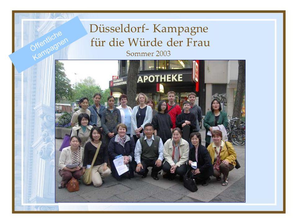 Düsseldorf- Kampagne für die Würde der Frau Sommer 2003 Öffentliche Kampagnen