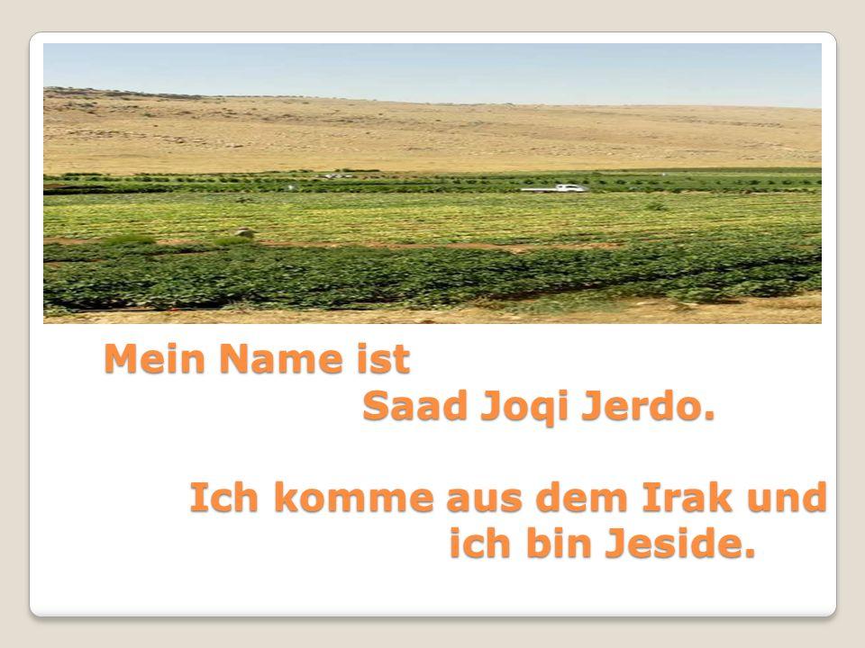 Mein Name ist Saad Joqi Jerdo. Ich komme aus dem Irak und ich bin Jeside.