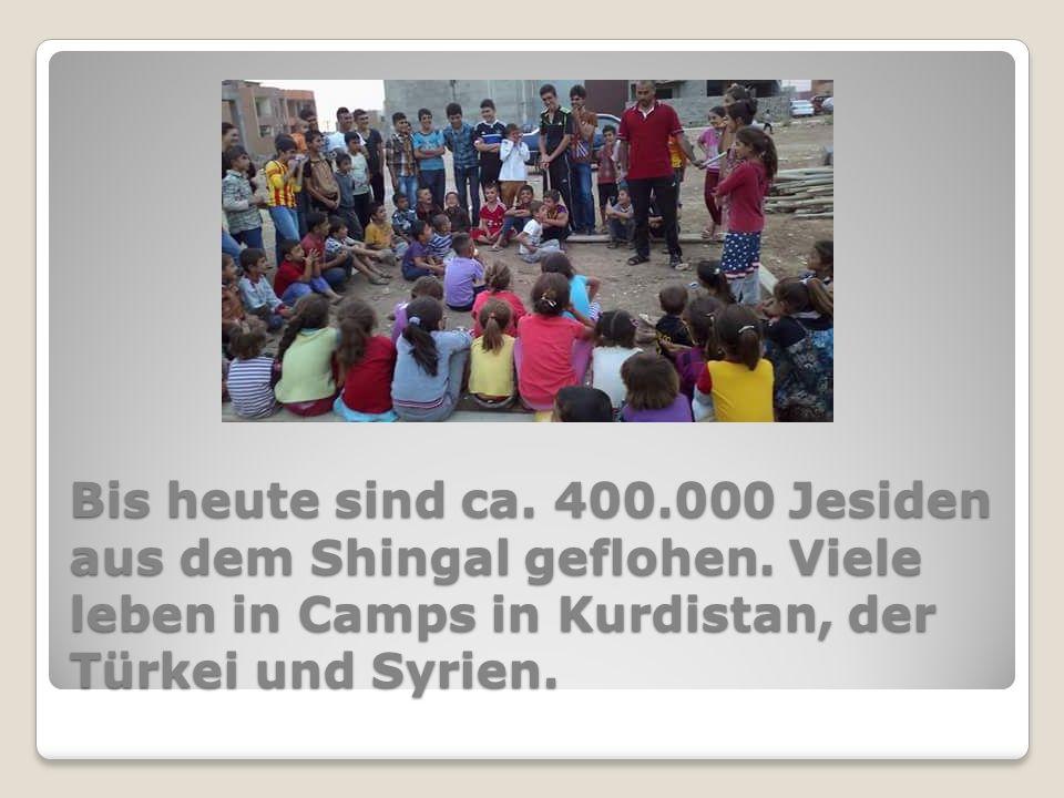 Bis heute sind ca. 400.000 Jesiden aus dem Shingal geflohen.
