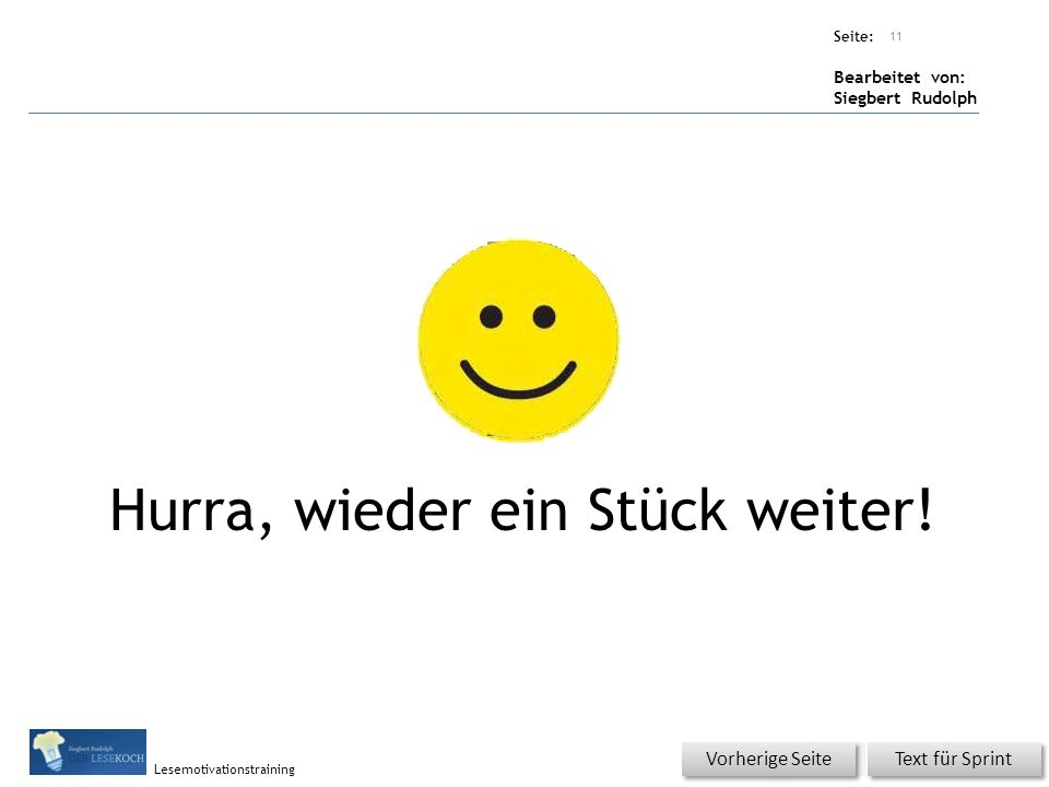 Übungsart: Seite: Bearbeitet von: Siegbert Rudolph Lesemotivationstraining 10 Wiederholung - Da stimmt was nicht.