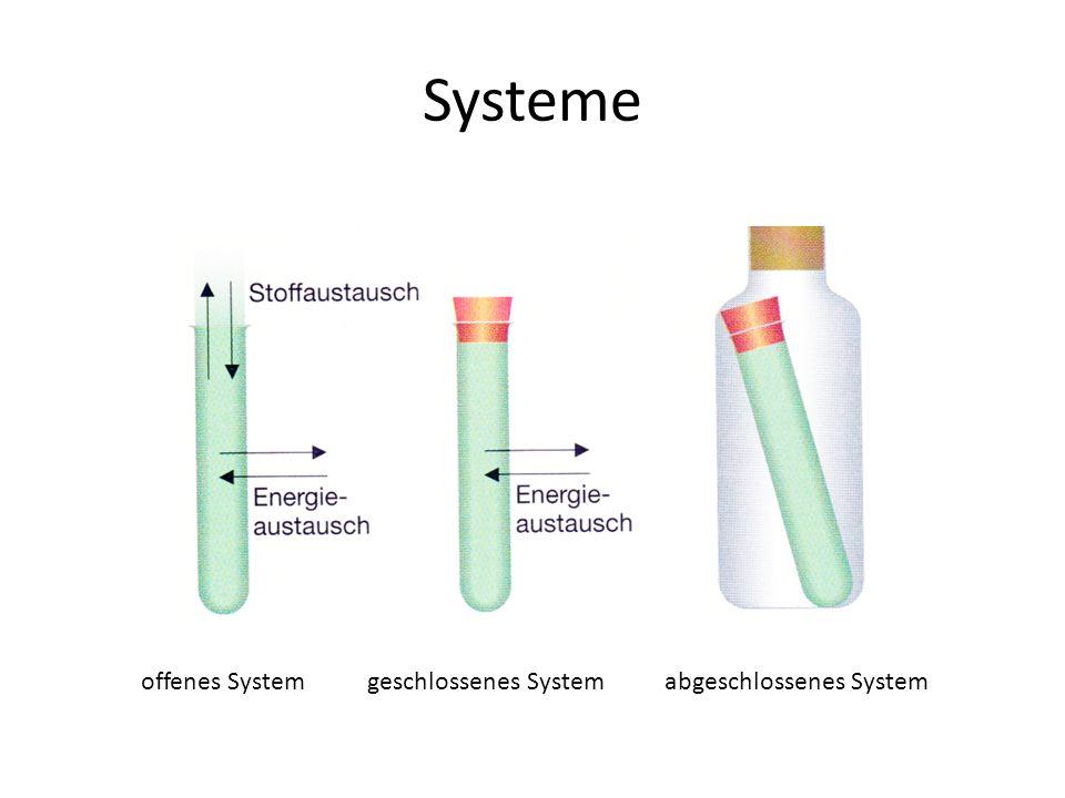 Systeme offenes Systemgeschlossenes Systemabgeschlossenes System