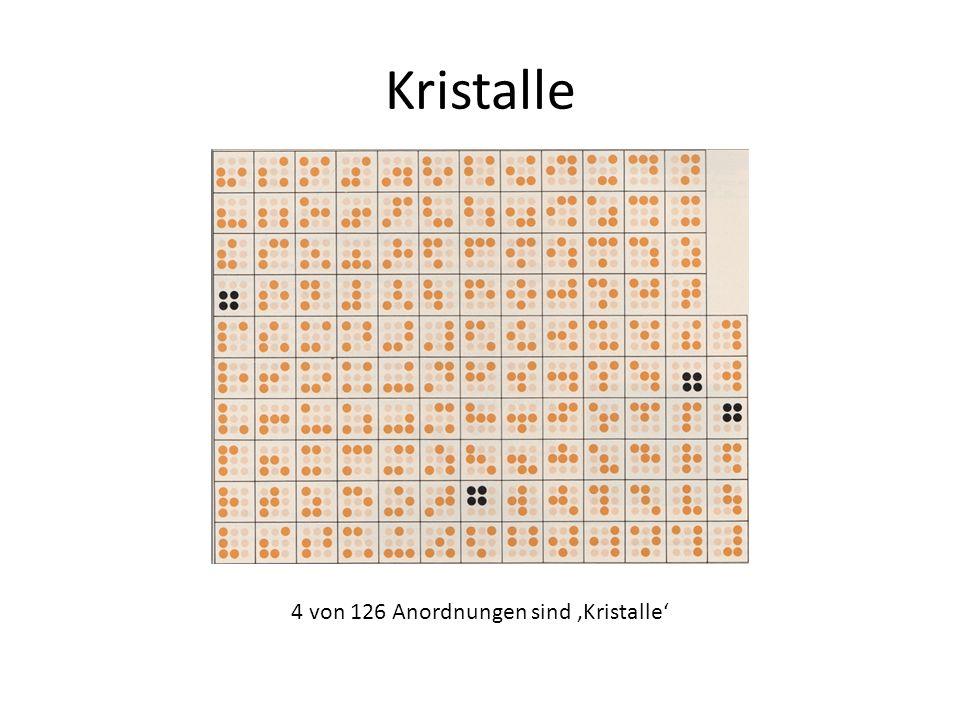 Kristalle 4 von 126 Anordnungen sind 'Kristalle'