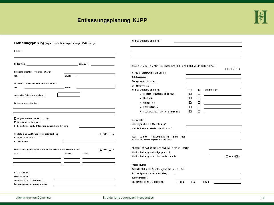 14 Alexander von Dömming Strukturierte Jugendamt-Kooperation Entlassungsplanung KJPP