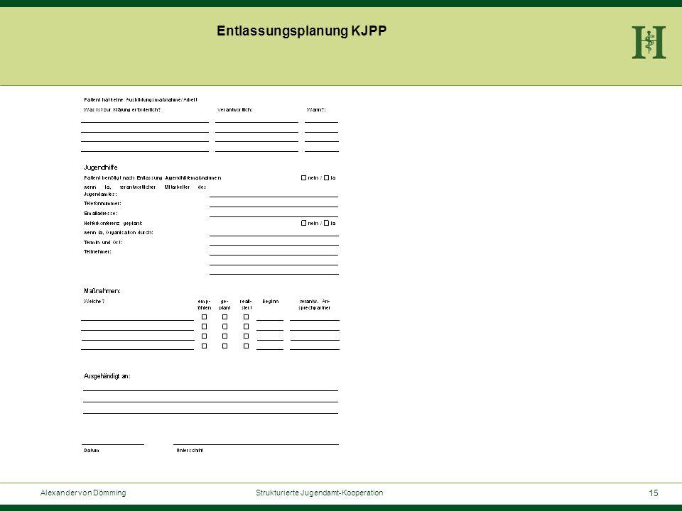 15 Alexander von Dömming Strukturierte Jugendamt-Kooperation Entlassungsplanung KJPP