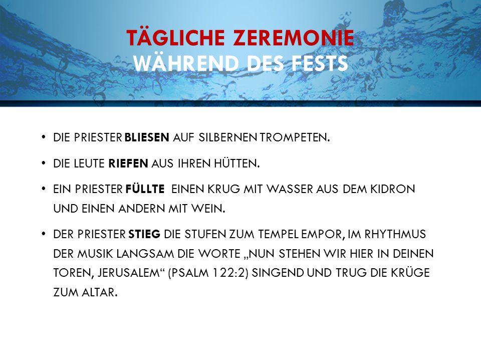 TÄGLICHE ZEREMONIE WÄHREND DES FESTS DIE PRIESTER BLIESEN AUF SILBERNEN TROMPETEN.