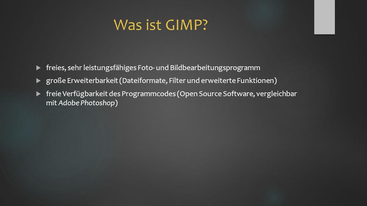 Was ist GIMP.