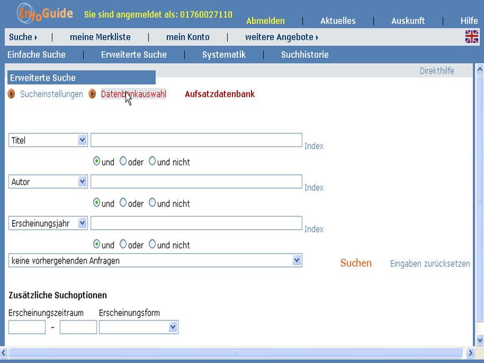 Dr. A. Weber Universität Bayreuth InfoGuide – TOP 3.4 KEP Sitzung am 21.12.04 1