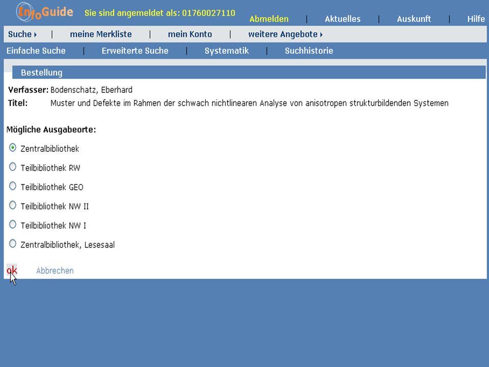 Dr. A. Weber Universität Bayreuth InfoGuide – TOP 3.4 KEP Sitzung am 21.12.04 11
