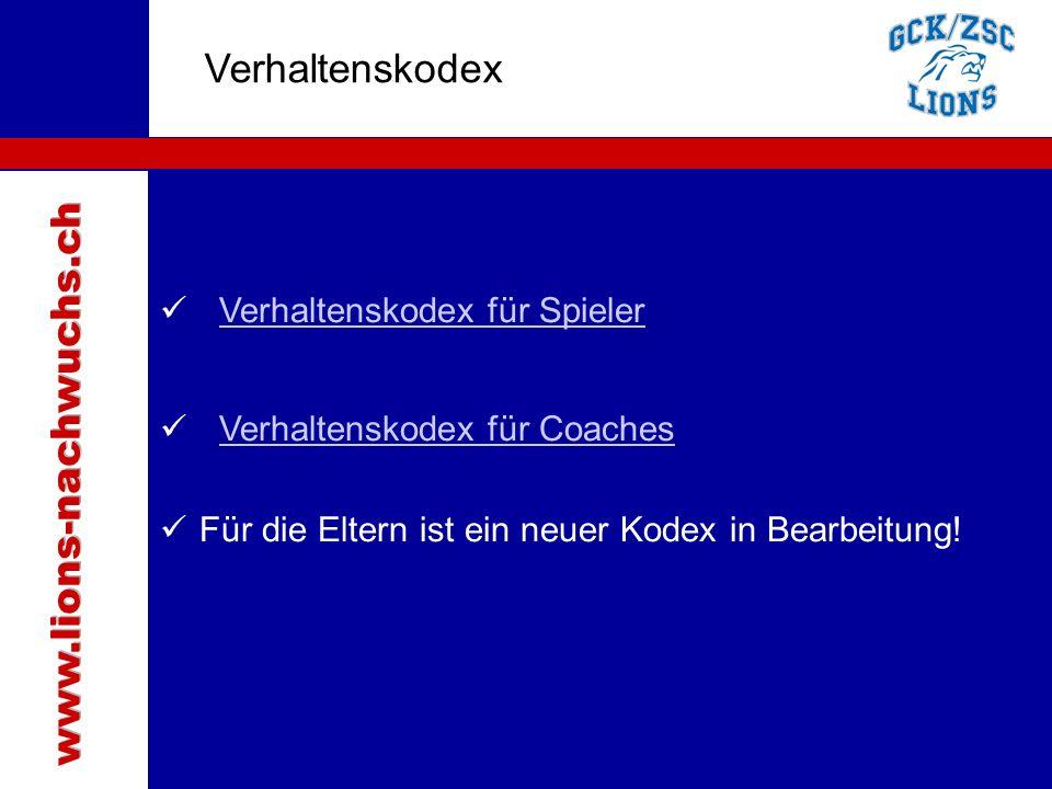 Traktanden Verhaltenskodex Verhaltenskodex für SpielerVerhaltenskodex für Spieler Verhaltenskodex für Coaches Für die Eltern ist ein neuer Kodex in Bearbeitung!