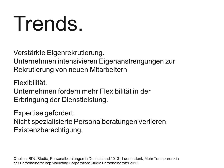Trends. Verstärkte Eigenrekrutierung.