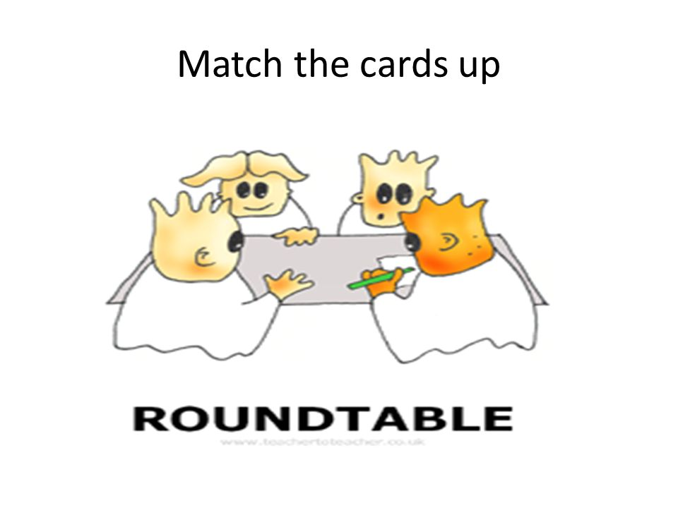 Match the cards up