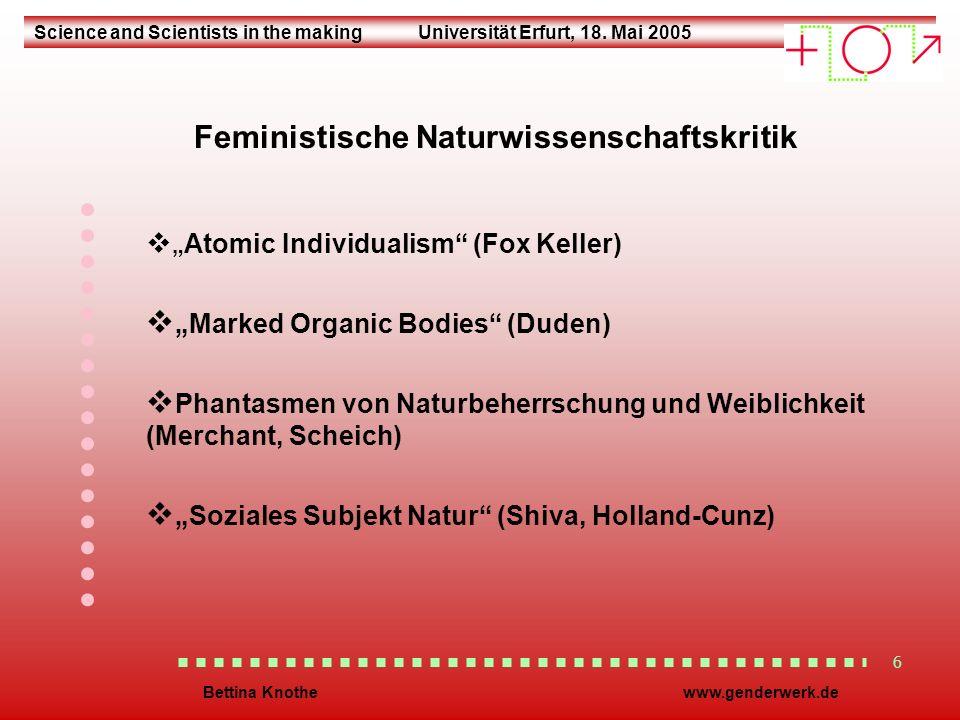 Science and Scientists in the makingUniversität Erfurt, 18.