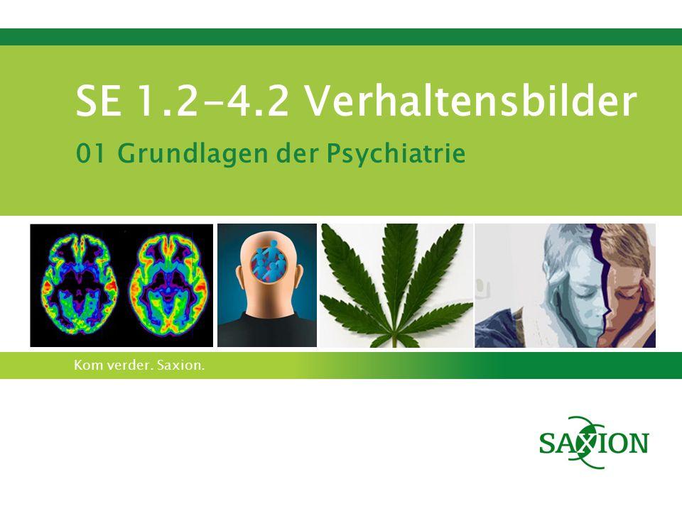Kom verder. Saxion. SE 1.2-4.2 Verhaltensbilder 01 Grundlagen der Psychiatrie
