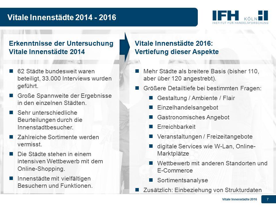 Vitale Innenstädte 201618 Projektschritte im Zeitablauf Akquisition zur Teilnahme u.a.