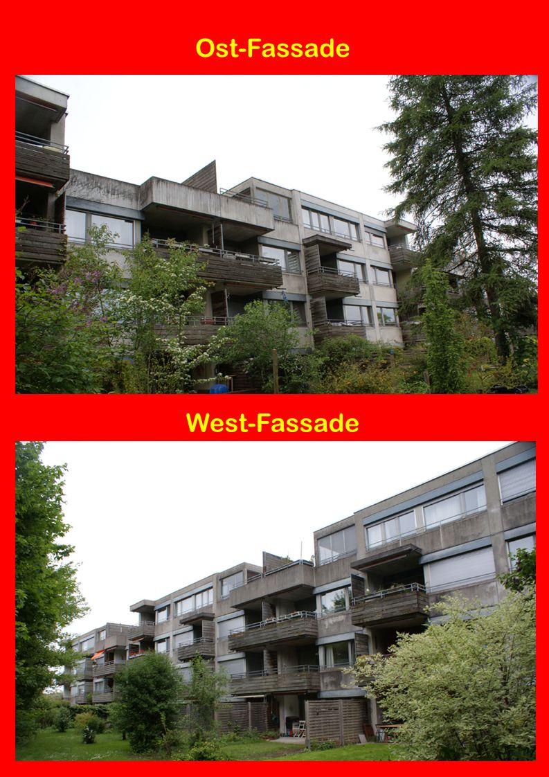 Fassaden mit HSLB AWD: Hart-Schaum-Leicht-Beton 6 cm 3-Schicht Verputz Kalk-Zement-Anwurf Kalk-Zement-Grundputz Deckputz > 3 mm Kratzputz, grau mit Blechabdeckung in NiCr