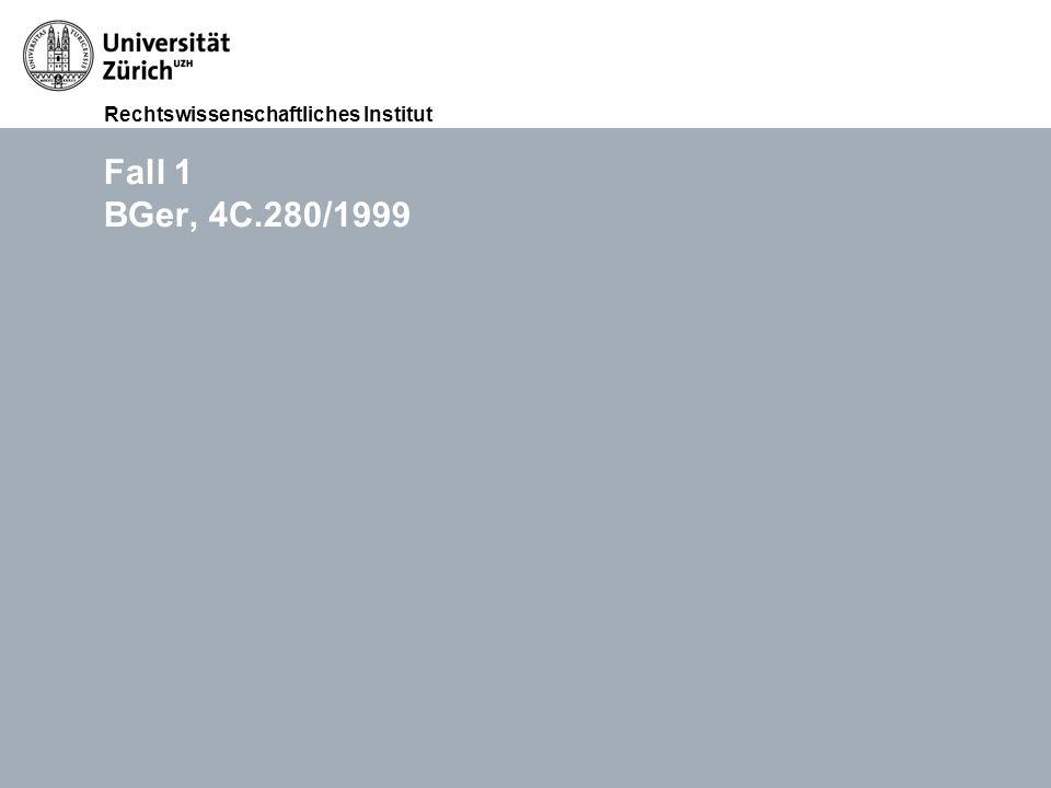 Rechtswissenschaftliches Institut FS 2015 Übungen im Haftpflichtrecht (Thema III: Widerrechtlichkeit), RA lic.