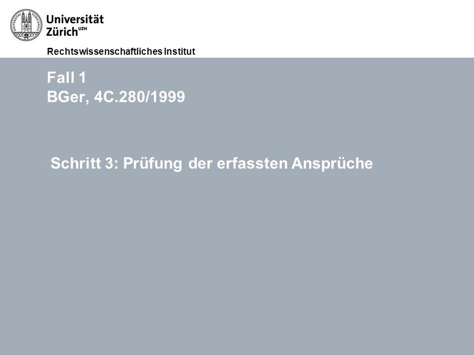 Rechtswissenschaftliches Institut FS 2015 Übungen im Haftpflichtrecht (Thema III: Widerrechtlichkeit), RA lic. iur. Lukasz Grebski Folie 1812.11.2011
