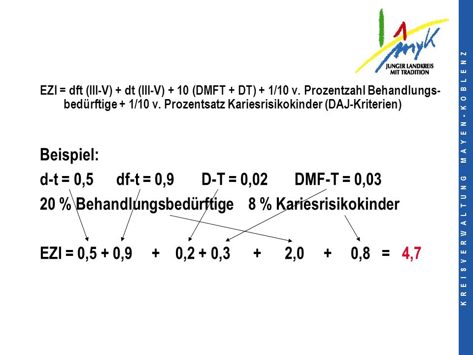 K R E I S V E R W A L T U N G M A Y E N - K O B L E N Z EZI = dft (III-V) + dt (III-V) + 10 (DMFT + DT) + 1/10 v.