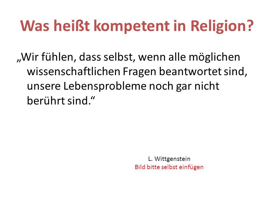Was heißt kompetent in Religion.