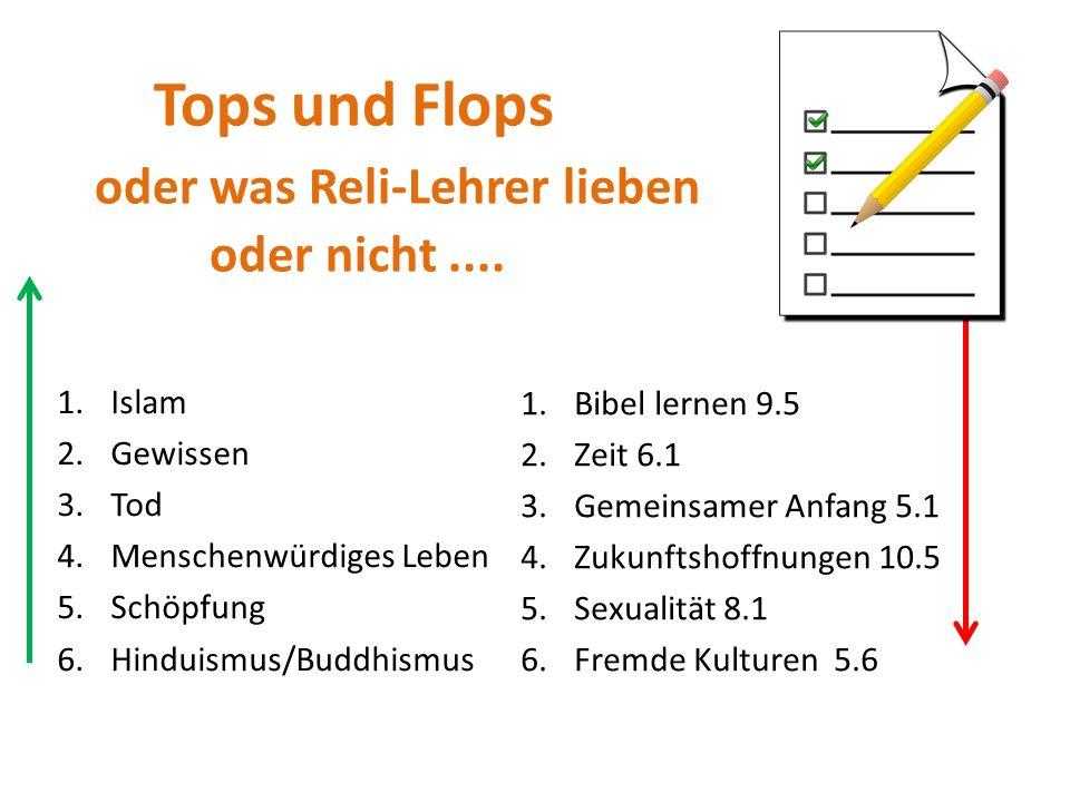 Tops und Flops oder was Reli-Lehrer lieben oder nicht....