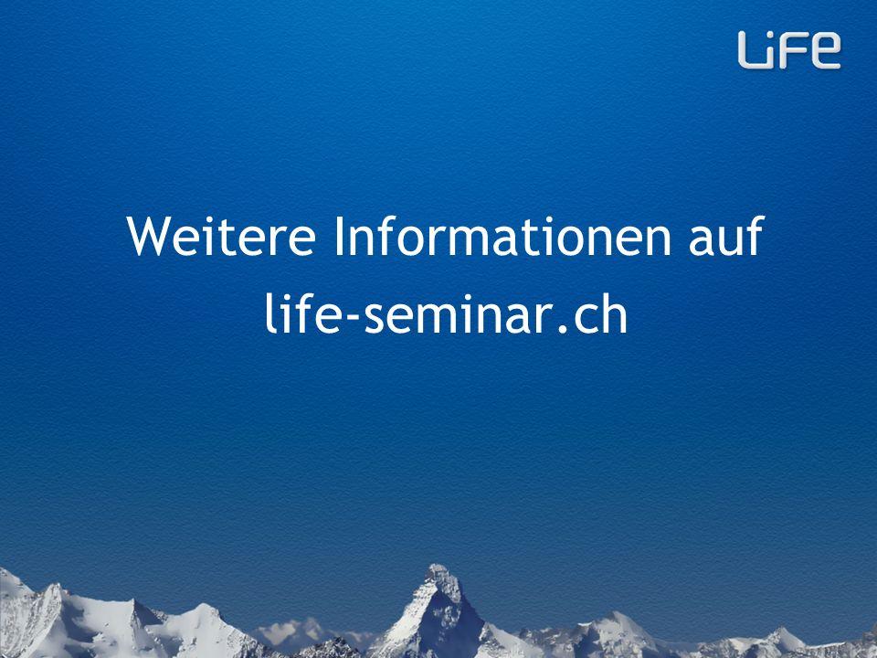 LiFe-Seminare gibt es in der Schweiz und im Ausland.