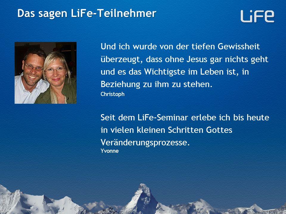 LiFe-Seminar = Fünf Themen Der Zeitrahmen beträgt jeweils zwei Std.