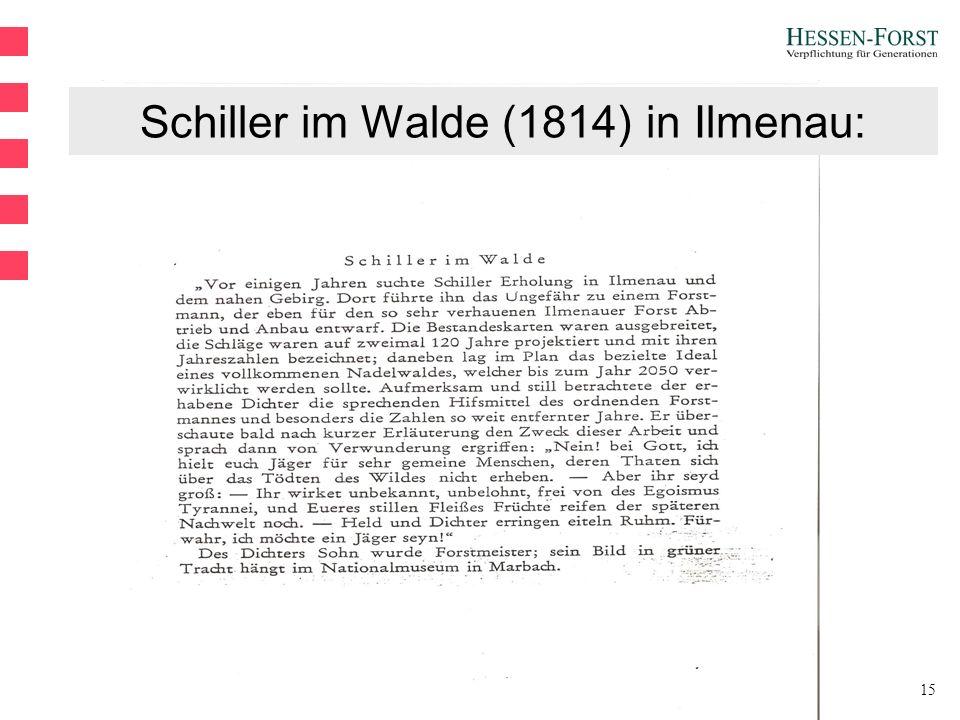 15 Schiller im Walde (1814) in Ilmenau: