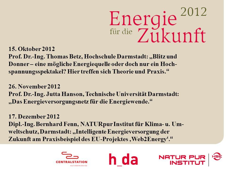 3 15. Oktober 2012 Prof. Dr.-Ing.